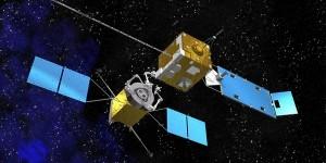 Vliegend tankstation voor satellieten