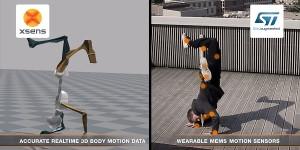 Kleding met draadloze 3D-bewegingssensoren