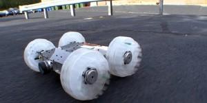Zandvlo-robot springt 9 meter hoog