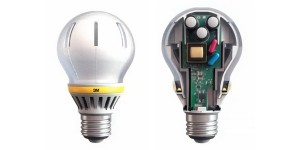 LED-lamp met lichtgeleiders