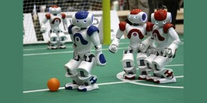Team TU Eindhoven verdedigt WK-titel robotvoetbal