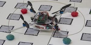 Smartphone bestuurt quadrokopter