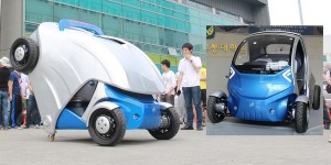 Opvouwbare elektrische auto