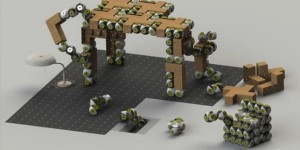 Robotmodules vormen meubels