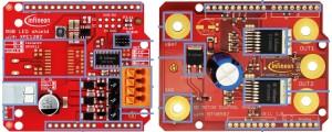 Nieuwe Arduino-shields van Infineon