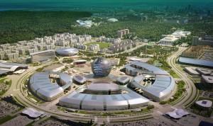 Het 25 ha grote tentoonstellingsterrein (foto © Astana Expo 2017)
