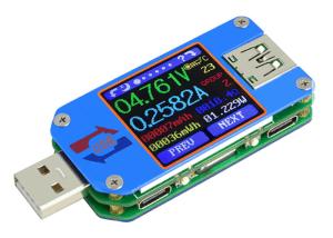 Review: USB-tester UM25C met LCD-kleurendisplay + Bluetooth