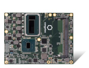 The GPU of the new SoC module provides 128 MB eDRAM and with 72 execution units it has three times more parallel execution power than the Skylake architecture without Iris graphics.