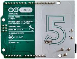 Cinque, de RISCy Arduino. Afbeelding beschikbaar gesteld door LinuxGizmodos