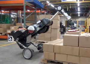 Zelfbalancerende robot voor het magazijn