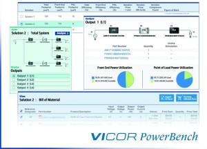 Power System Designer van Vicor helpt bij het configureren van modulaire systemen