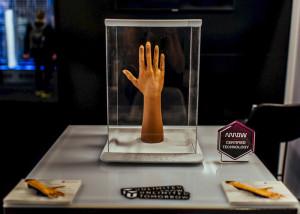 3D-geprinte armprothese. Afbeelding: Arrow Electronics.