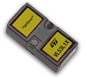 Afstanden meten met de VL53L1X. Afbeelding: STMicroelectronics
