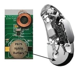 Miniatuur NiMH-lader/ontvanger voor hoorapparaten