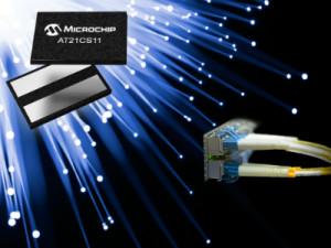 Enkeldraads seriële EEPROM van Microchip maakt identificatie op afstand mogelijk