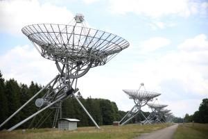 De synthese-radiotelescoop te Westerbork (foto: Elodie Burillon – hucopix.com).