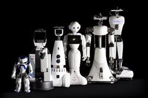 De zorgrobots die in het onderzoek aan de TU/e gebruikt en ontwikkeld worden (foro: Bart van Overbeeke).