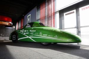 De Aurora One is toepasselijk in een groen jasje gestoken (foto: Green Team Twente).