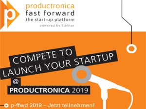 Startup in de electronica? Doe mee met productronica Fast Forward 2019