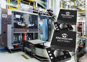 Hoge datasnelheden bij grote nauwkeurigheid in Microchip's nieuwe analoog-naar-digitaal omzetterseries
