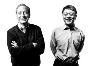 Brad Smith en Harry Shum van Microsoft schreven het voorwoord van The Future Computed. Beeld: Microsoft