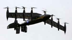 Elektrisch aangedreven vliegtuig met tien motoren