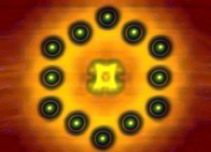 Transistor van één molecuul en een paar atomen