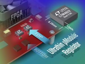 Ultradunne spanningsregelaar levert 2 x 2,5 A
