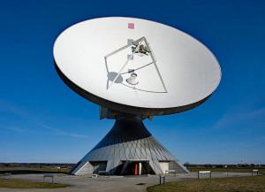 Grondstation Raisting in Beieren. Afbeelding: Richard Bartz, Wikimedia, CC 2.5