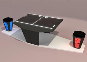 Een LED-kruk stuurt een Ping-Pong-spel aan. Afbeelding: Fraunhofer IAO