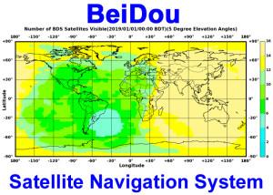 Huidige satellietdekking van BeiDou. Afbeelding: BeiDou.