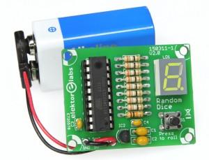 Elektronische dobbelsteen met de ATtiny2313
