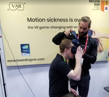 The Boarding VAR device at CES 2019