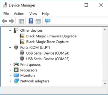 blavk magic probe in windows device manager