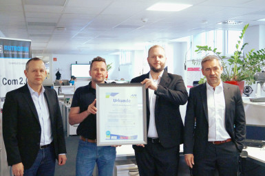 Markus Ziegler, Head of IT; Hans-Ulrich Pfleiderer, IT - Asset Manager; Alexander Schwander, PartnerManager AfB; Marco Nabinger, CIO (from left)