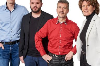 Von links: Justin Mouthaan, Dave Verheij,Joaquín Payá Sánchez und Manita Boeter