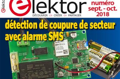 Le nouveau numéro d'Elektor (sept.-oct. 2018) en kiosque !