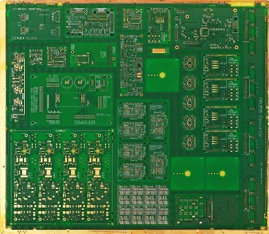 Typical Eurocircuits production panel demonstrating the principle of our order pooling.