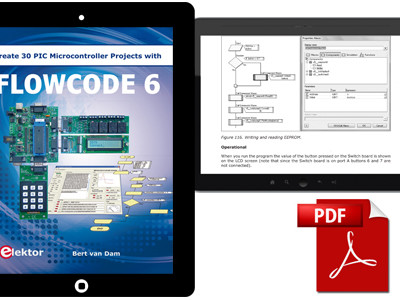Create 30 PIC Microcontrollers Projects with Flowcode 6 Now E-vailable!