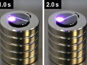 Light Controlled Levitating Magnets