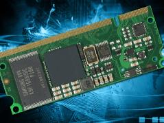Credit card sized MCU module runs Linux & Windows CE