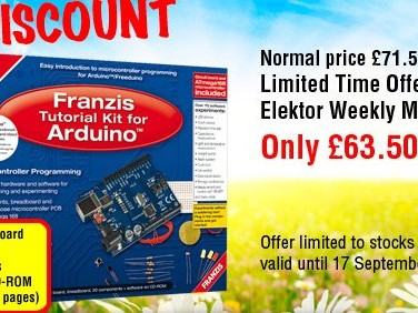 Summer Deal: Tutorial Kit for Arduino at a £8 Discount