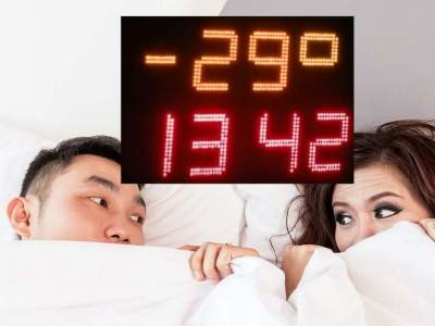 Build a bedroom clock showing outside temperature too