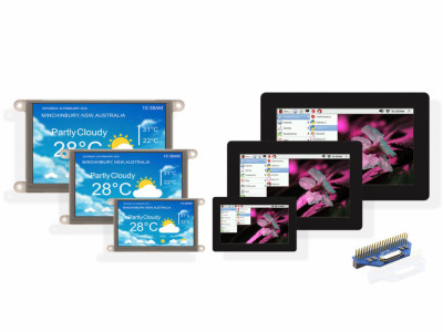 Touchscreen displays: compact and elegant HMI for Raspberry Pi family