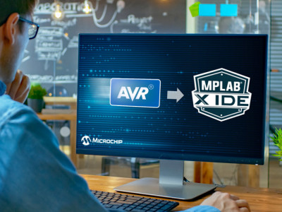 Latest version of MPLAB supports Atmel devices also