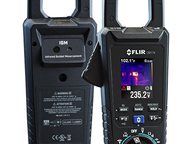 New clamp-on ammeter has integrated infrared camera