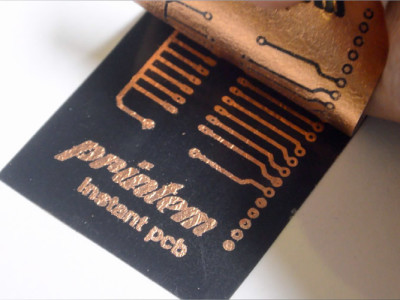 Speedy PCB production using an inkjet printer!