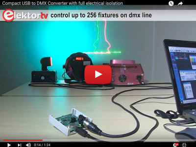 Isolated (<1 kV) USB/DMX512 converter