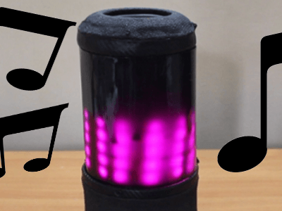 Build a portable Bluetooth speaker with light effects