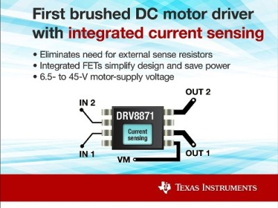 New DC Motor Controllers from TI